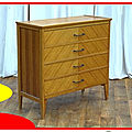 Commode vintage chêne clair massif 1950