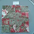 3 ème et 4 ème bloc de the farmer's wife sampler quilt