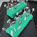 Rugby cake pops