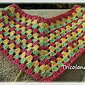 Sur mon crochet => poncho granny