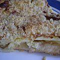 Tarte crumble, ananas, mascarpone