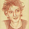 Raphael - portrait aux 3 crayons sur papier bis 24x30 cm