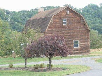 Une grange typiquement americaine (souvent elles sont peintes en rouge...)