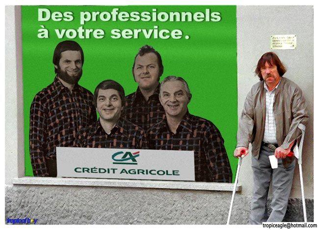 parodie pub credit agricole