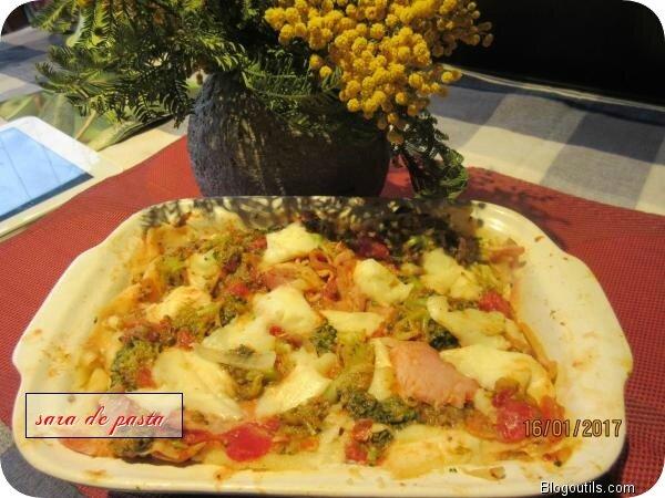 Lasagne au brocoli et jambon .