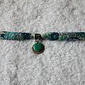 Bracelet SOEUR vert 1