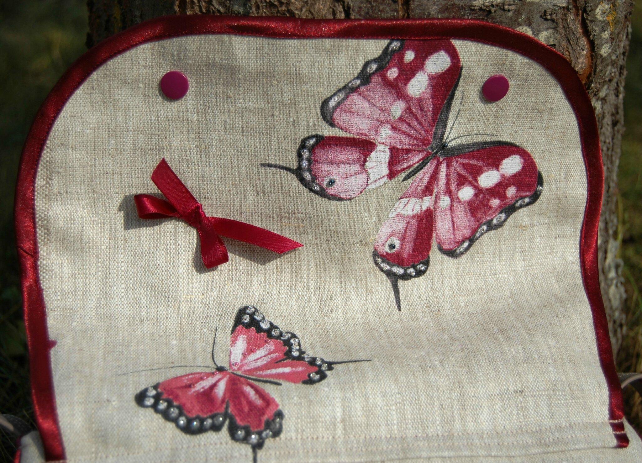 Sac papillon détail