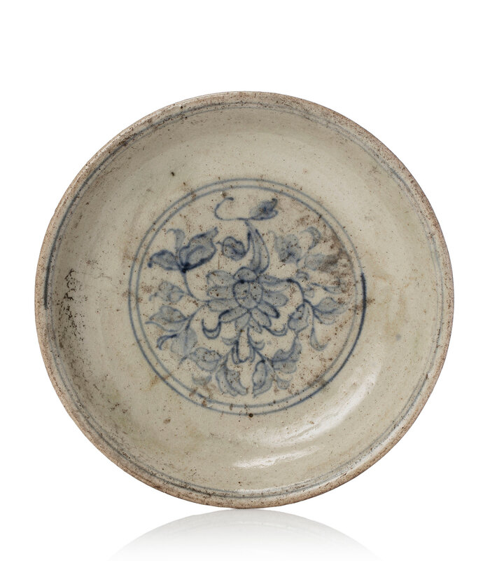A blue and white decorated dish, South China, 12th-13th century