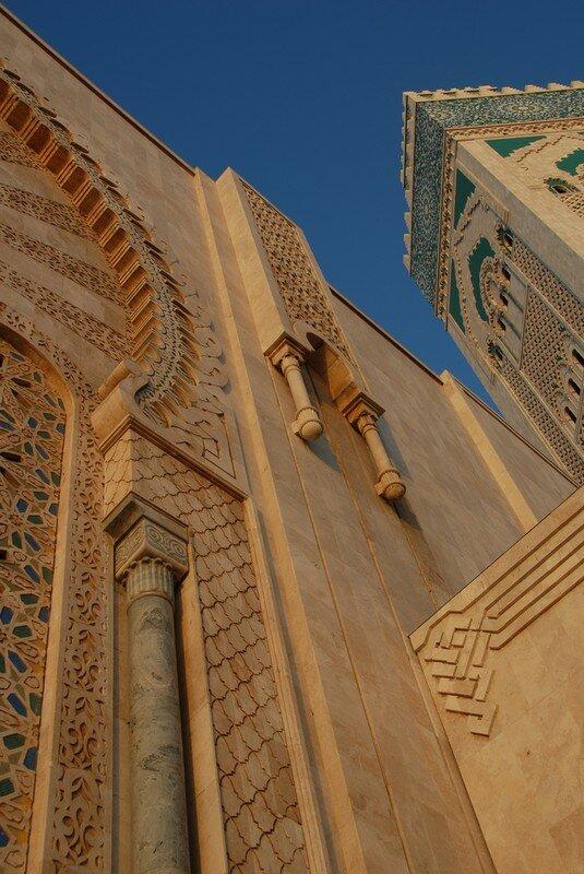 Détail Artisanal de la Mosquée Hassan II Casablanca