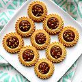 Sablés tartelettes aux graines de vanille et chocolat