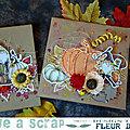 Cartes automnales par Fleur de Vigne