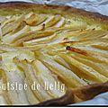 Tarte pomme poire à la vanille