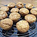 Muffins aux pommes extra-moelleux (végans)