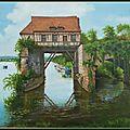 Le vieux moulin de Vernon ( Huile sur toile )