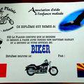 Un diplôme est remis à tous les motards d'un jour.