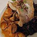 Pessac-Léognan <b>Carbonnieux</b> blanc 2008, Côte Rôtie Clusel Roch: Les Grandes Places 2010 pour la fin d'un dîner (table de Margot)