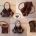Sac patchwork marron