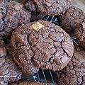 Cookies ultra gourmands et moelleux tout chocolat