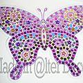 Art au numéro : papillon mosaique