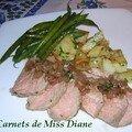Rôti de veau au vinaigre balsamique et pommes de terre sarladaises, sans gluten et sans lactose