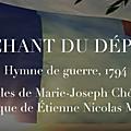 Les hymnes de la république