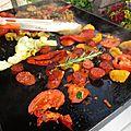 Chorizo/poivron péquillos/ légumes à la plancha à gaz - recette