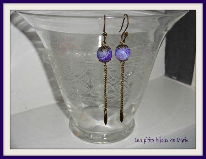 BO violettes et bronze