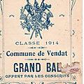 Bal des conscrits de 1914 à Vendat