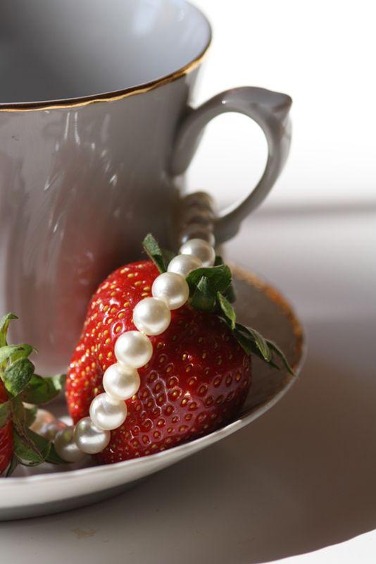 Des fraises et des perles