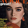 1981, Brooke Shields par <b>Avedon</b> pour Vogue