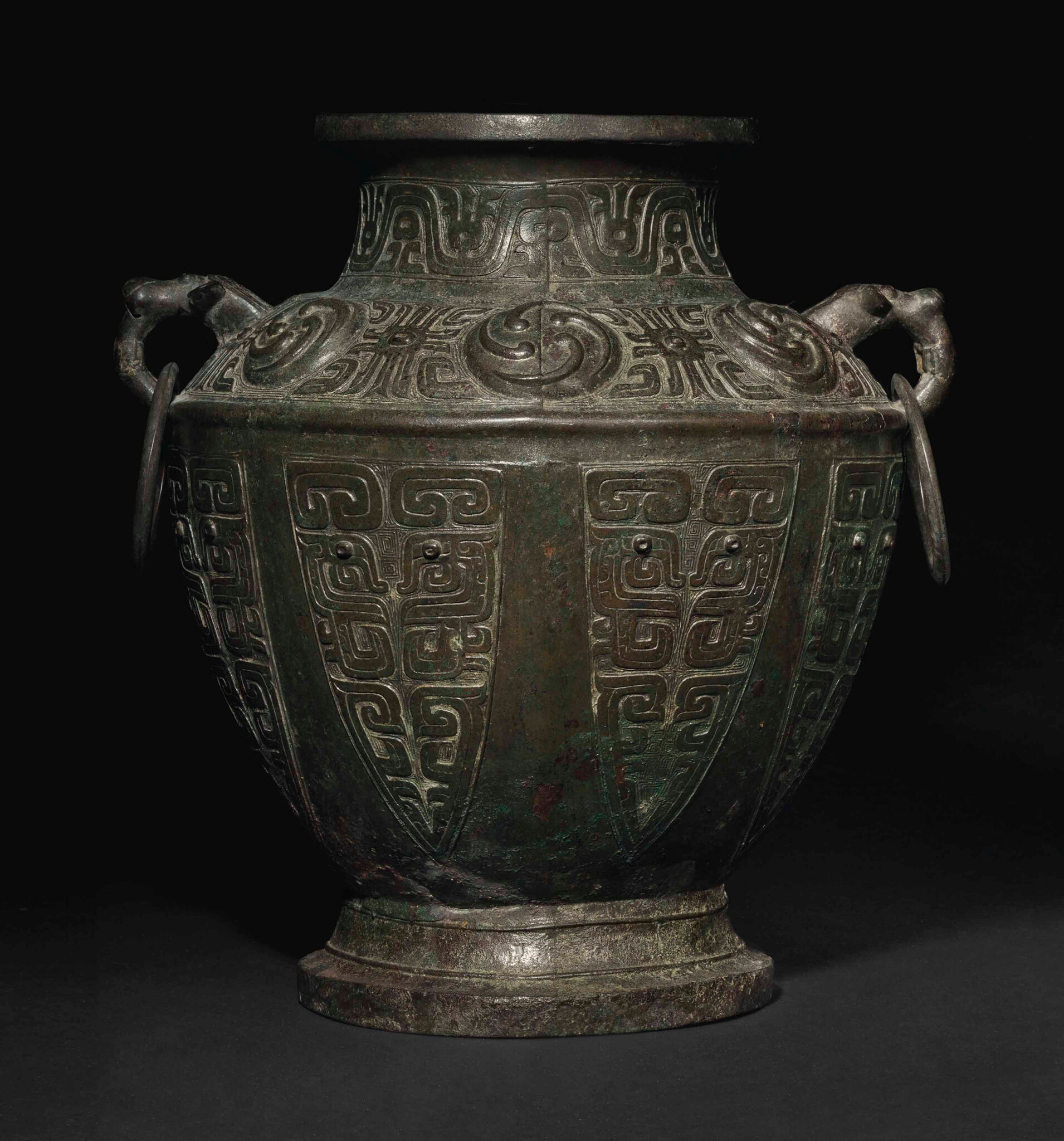 A very rare and important large bronze ritual wine vessel lei a very rare and important large bronze ritual wine vessel lei middle western zhou dynasty 10th century bc buycottarizona Choice Image