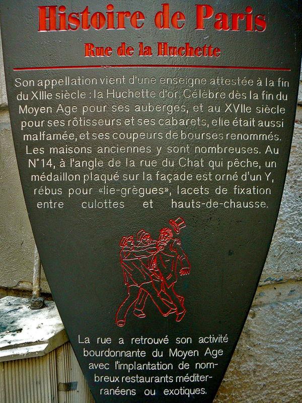 Histoire de la rue de la Huchette.