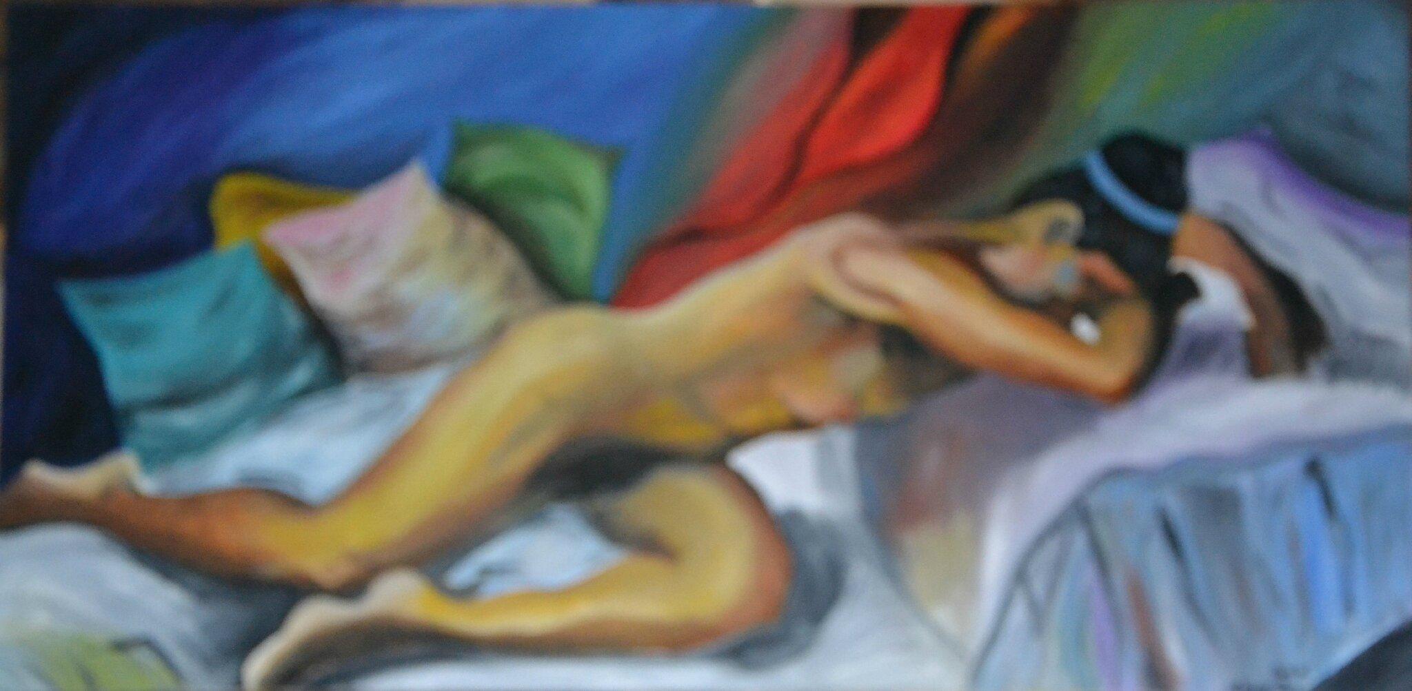 nu d'une femme allongé