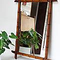 Déco Vintage ... MIROIR Bambou * Grand modèle