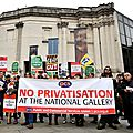 Staff at <b>London</b>'s <b>National</b> <b>Gallery</b> go on indefinite strike to protest at the outsourcing <b>of</b> some services