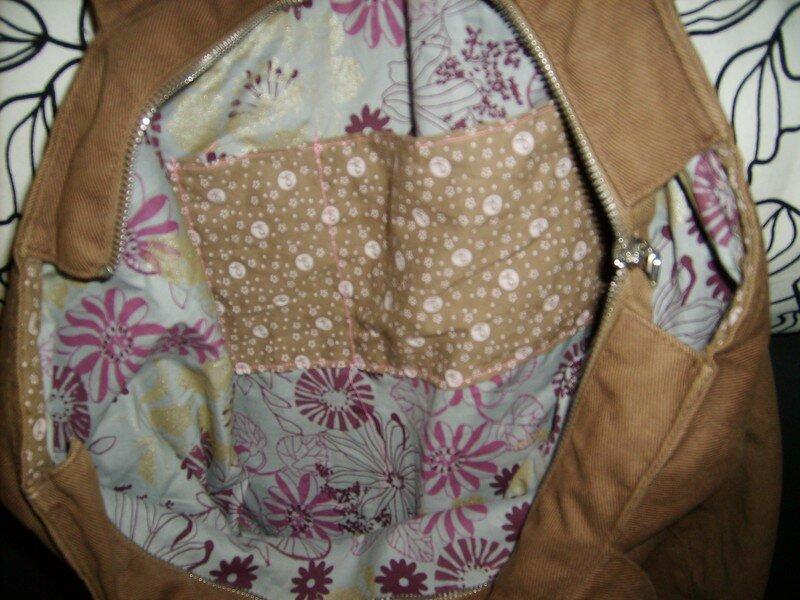 doublure de sac refaite entierement avec pochette à l'envers ZUT! (pour Peggy)