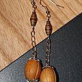 Boucles perles bois et papier