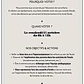 Vendredi 11 octobre : venez votez pour élire vos représentants