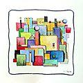 peinture abstraite valerie albertosi aquarelle watercolor papier boisemont paris val d'oise