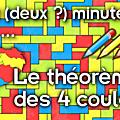 Deux (deux ?) minutes pour le théorème des 4 couleurs