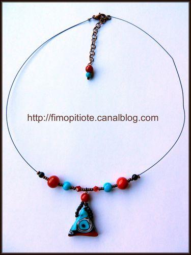 bracelet collier boucles d'oreilles pate fimo bijoux (1)