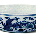 Blue and white 'Dragon and Phoenix' shallow bowl, Jiajing mark and period (1522-1566), Collection of the Palace Museum, Beijing