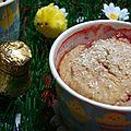 Muffins de pâques à la fraise et à la coco