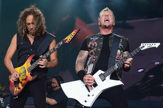A gauche: Kirk Hammet