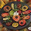 Carpaccio de tomates en 9 variétés !
