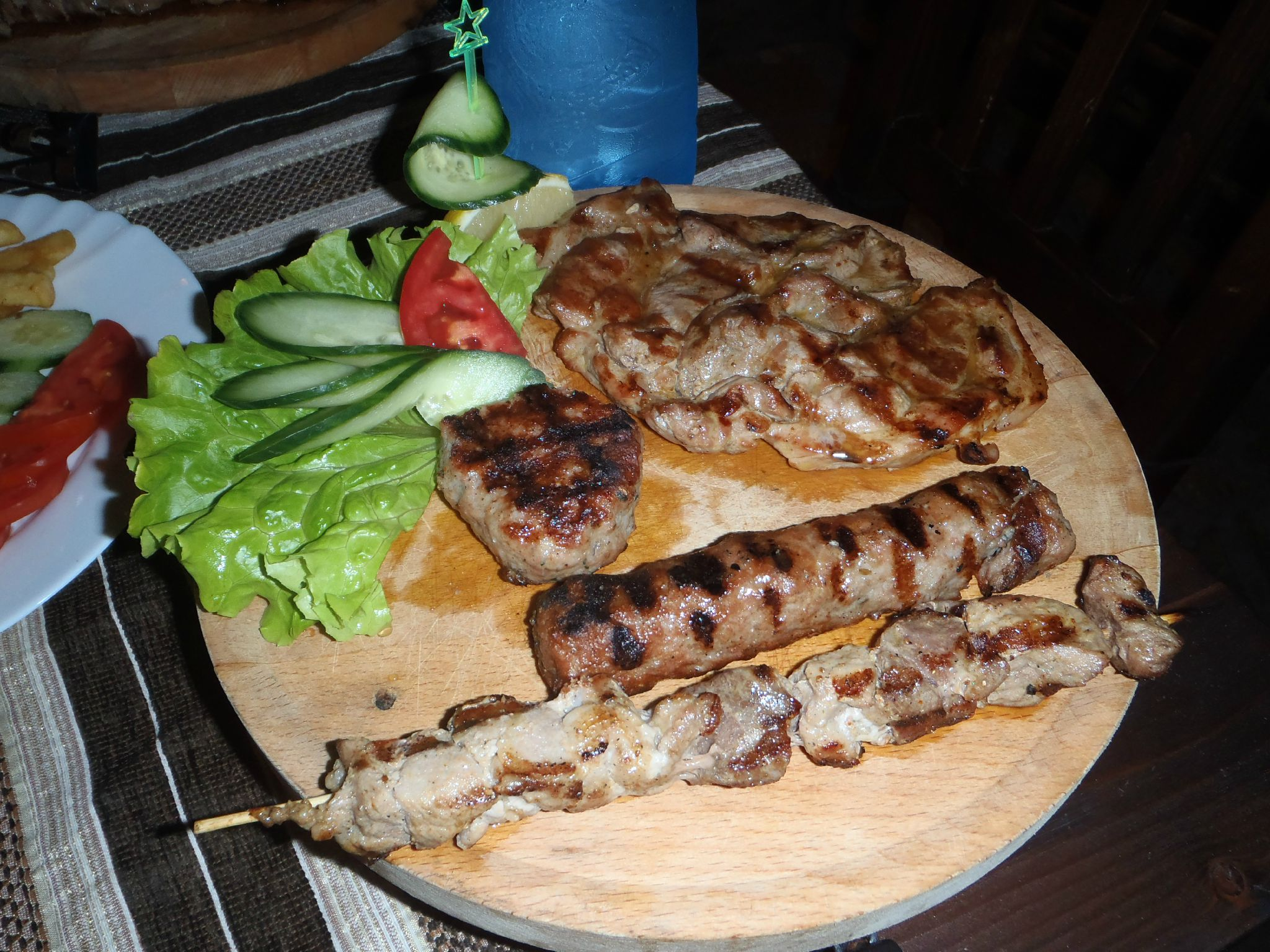 bulgarie primosko grillades salade leger pour un diner