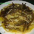 Petits spaghetti au <b>pesto</b>, haricots verts et pommes de terre