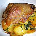 Confit de canard et pommes de terre sarladaises