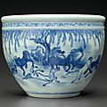 A blue and white jardinière, 18th-19th century