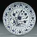 Ming dynasty blue <b>and</b> white porcelains sold at Christie's London, 16 November 1998